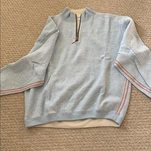 Tommy Bahama Blue 3/4 zip pullover